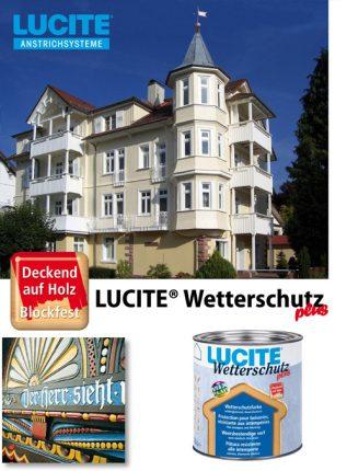 Lucite Wetterschutz, Farben und Lacke.