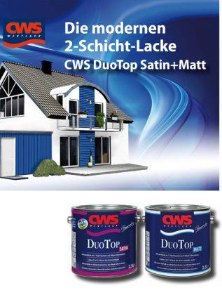 2-Schicht-Lacke CWS DuoTop Satin + Matt